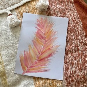 Feather watercolor print